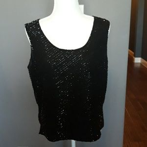 Papell Boutique Sequined Top